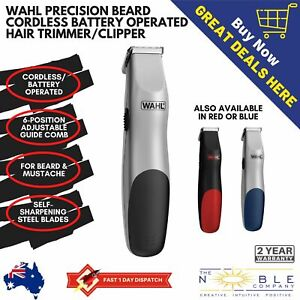 Wahl-Precision-Beard-Cordless-Battery-Operated-Hair-Trimmer-Men-Face-Shaver
