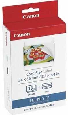 Canon Selphy KC-18IF Photo Ink Full Size Label Set 18 Sheets New from Japan