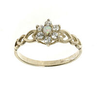 Opal Ring Engagement Ring Sterling Silver Handmade In Jewellery Quarter B'ham