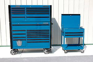 MATCO-TOOLS-DOUBLE-BANK-TOOL-BOX-AND-MATCHING-MATCO-CART-MB7525-MB7520-MSC10