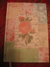 BEAUTIFUL BLANK JOURNAL~DIARY SOFT MINT PINKS, BLUE WITH ROSES AWESOME STYLE NEW