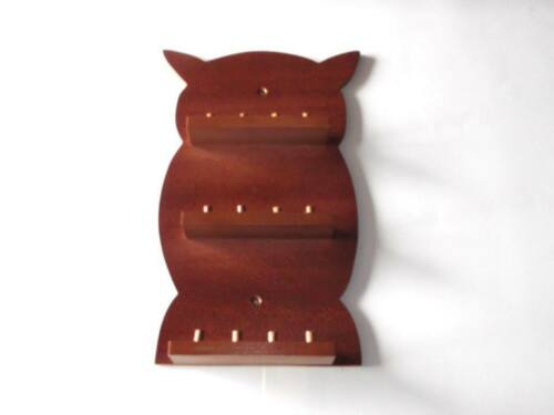 huge range - see list Mahogany 12pc Owl Wooden Thimble Display Rack