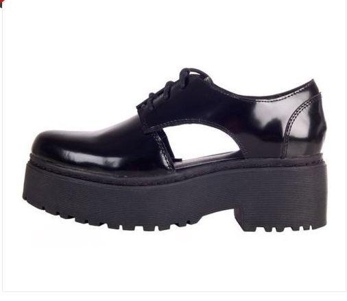 Jeffrey Campbell Adrian Charol Negro Zapatos De Plataforma UK UK UK 7 EU 40  estar en gran demanda