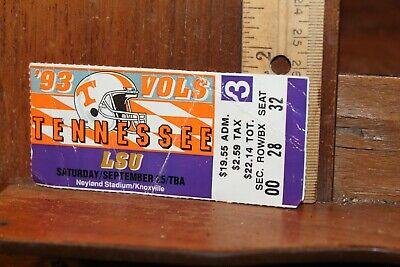 Vintage Ticket Stub UT Tennessee Vols Football 1991 vs ...