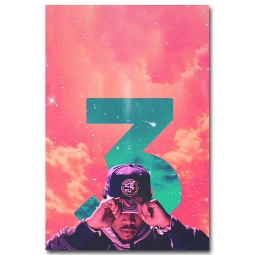 Chance the Rapper Hot Music Rap Art Fabric HD Print Poster 12x18 24x36 inch#B194