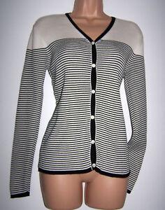 All Ashley Cotone Medio Costine Cardigan A Laura Seasons Righe Vintage In Bnwt Bqp8wp