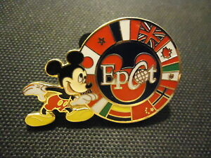 DISNEY WDW MICKEY WITH EPCOT CIRCLE OF FLAGS COLOR ERROR PIN
