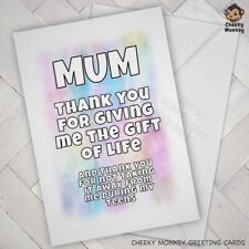 Funny Birthday CARD Mum Cheeky Joke Banter Mom Mother Mothers Day Mammy Mam