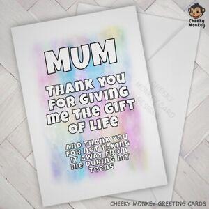 Surprising Funny Birthday Card Mum Cheeky Joke Banter Mom Mother Mothers Day Funny Birthday Cards Online Necthendildamsfinfo