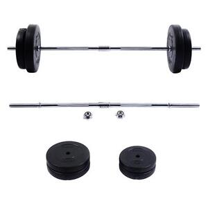 Image Is Loading New 66 Lb Barbell Dumbbell Weight Set Gym