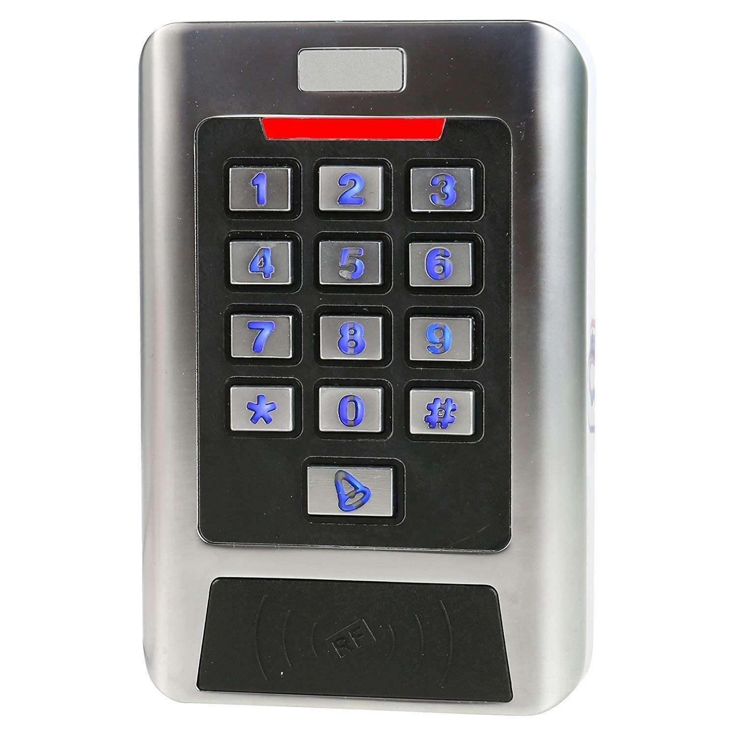 Access Control 125KHZ Keypad Read EM HID Card Wiegand 26 Two Doors Waterpoof