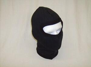 Balaclava-black-100-percent-cotton-lightweight-single-opening-full-head-new-SZ-S