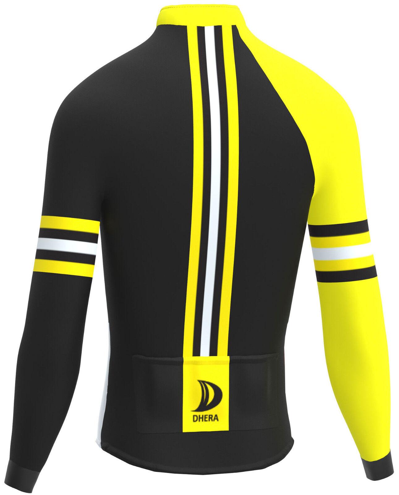 36c8d4e6be Invierno de manga larga de DHERA cremallera completa Top Jersey ciclismo  Jersey térmico de carreras