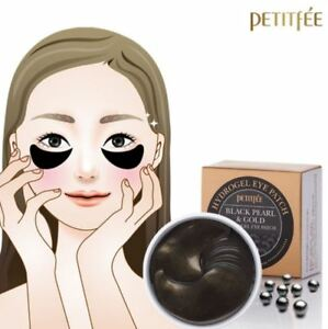 NEW-PETITFEE-Black-Pearl-amp-Gold-Hydrogel-Eye-Patch-60-pieces