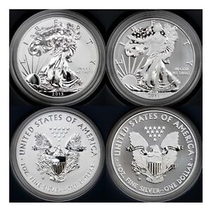 2013 W Silver Eagle Enhanced Amp Reverse Proof West Point 2