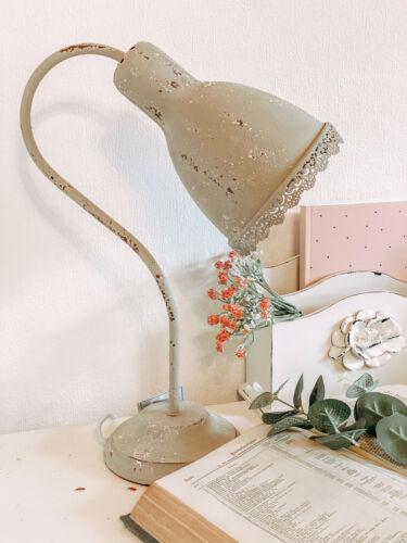 Clayre /& Eef Nostalgie Schreibtischlampe Lampe Tischlampe Metall Grau E 27