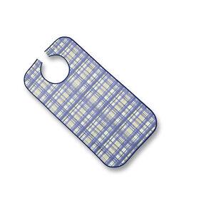 Suprima 5570 Ess-tablier Polyester Avec Boutons Pression Bleu à Carreaux Seniorenlatz-afficher Le Titre D'origine Artisanat D'Art