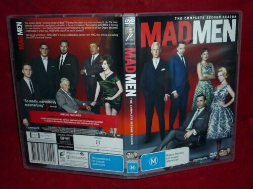 1 of 1 - MAD MEN THE COMPLETE SECOND SEASON (3-DISC SET) (DVD, M)