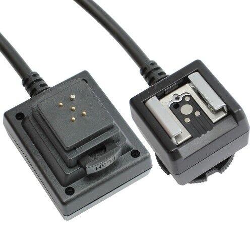 TTL cable relámpago cable compatible con sistema Pentax relámpagos