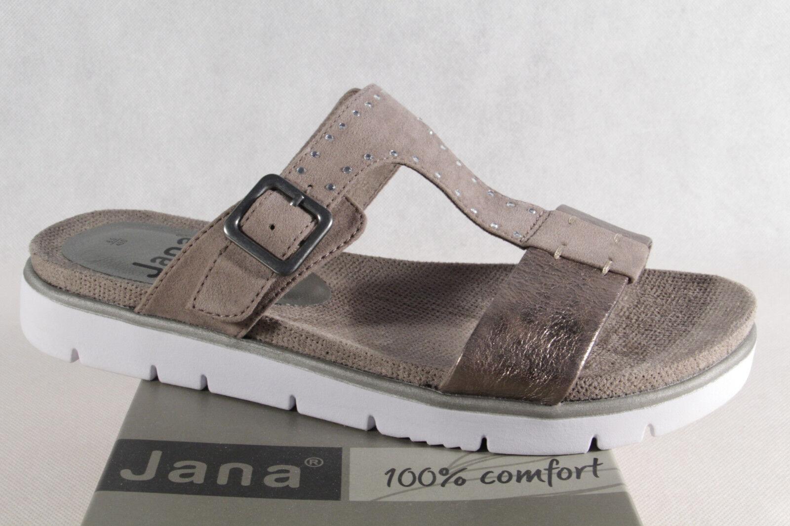 Último gran descuento JANA Sandalias De Mujer Sandalias Gris / gris topo 27100 NUEVO