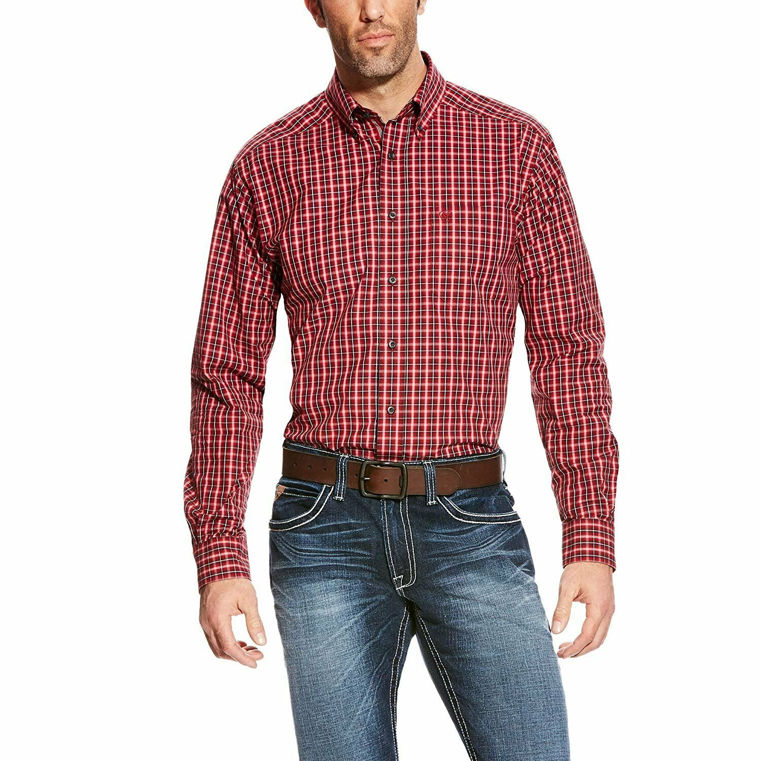 Ariat R Uomo Benton Fitted Shirt XL R Ariat arancia Blaze f09f83