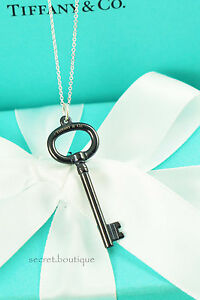 AUTHENTIC-Tiffany-amp-Co-Titanium-Key-Pendant-Necklace-16-034-BEAUTIFUL-725-517