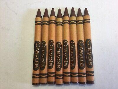 8 0f Crayola Brown Wax Crayons
