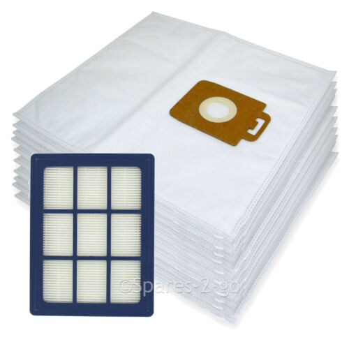 Allergy Vacuum Hoover 10 x Cloth Bags H12 HEPA Filter for Nilfisk Power P40