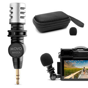 Movo MA5CA Mini 3.5mm TRS Omnidirectional Microphone for Cameras and Recorders