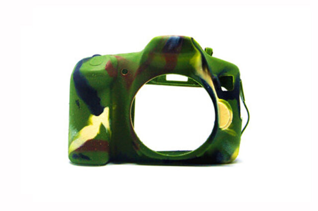 Silicone Armor Skin Camera Case Cover Bag for Canon EOS 60D DSLR Camera Black