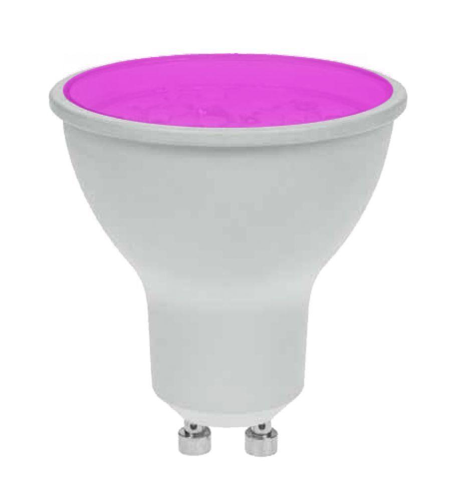 10 x PROLITE Ampoule LED 7w GU10 120deg magenta (Prolite)