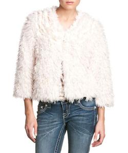 Me Fuzzy Blush Size Jacket Nwt Miss Medium f1Uqpx