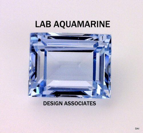 MAN MADE AQUAMARINE 7X5 MM BAGUETTE CUT  OUTSTANDING COLOR AAA