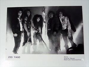ZED-YAGO-Metal-PRESSE-Foto-Photo-PICTURE-Promo-Set-Card