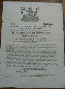 1797-REP-CISALPINA-MILITARIA-MODENA-REGGIO-MIRANDOLA-CARPI-CORREGGIO-SASSUOLO