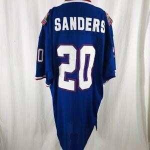 meet f3a94 019c4 Details about Vtg 1996 Throwback Barry Sanders #20 National Hawaii Pro Bowl  Blue Jersey Sz XXL