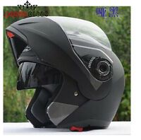 Best Motorcycle Helmet Dual Visor Modular Flip Up Sun Shield Full Open Face