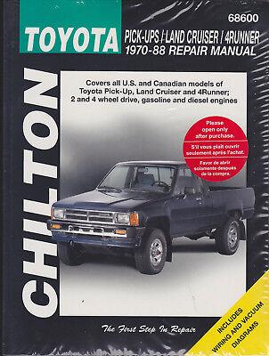 1970-1988 Toyota Pick-up Land Cruiser 4Runner Chilton Haynes Repair Manual 5781