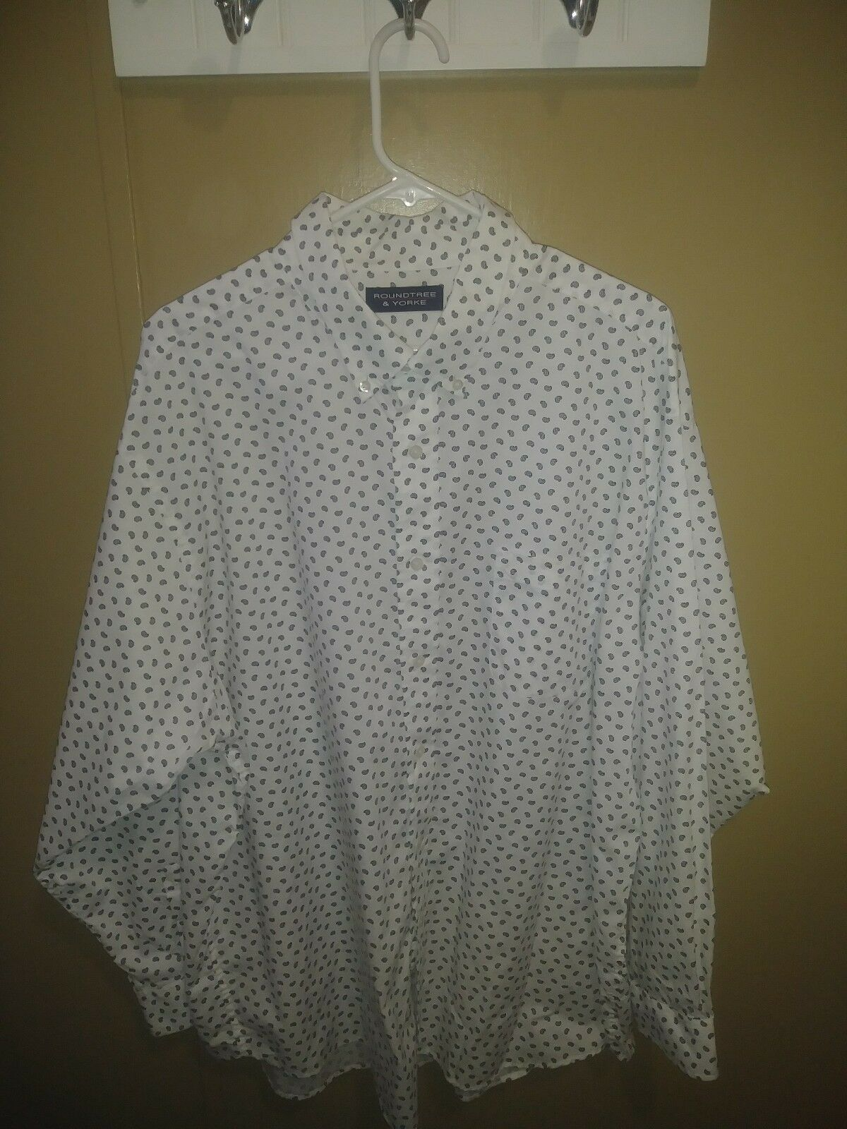 NWOT  ROUNDTREE & YORKE  Paisley Print Button Down Dress Shirt XXL