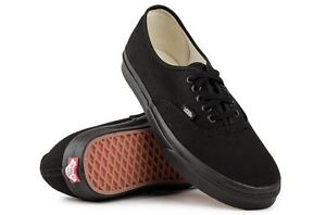 Vans-Shoes-Authentic-Black-Black-Classic-Skate-Board-NEW-FREE-POST-USA-SIZE