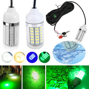 12V-15W-Underwater-LED-Submersible-Fishing-Light-Night-Boat-Attract-Fish-Lamp-SG