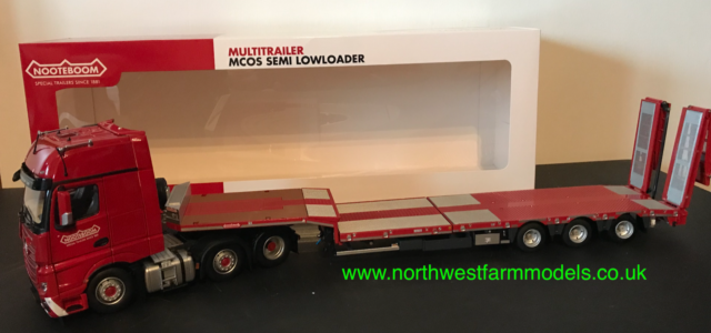 WOODEN FLOOR MARGE MODELS 1:32 SCALE PACTON FLATBED TRAILER RED