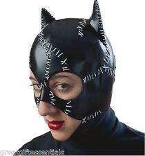 Catwoman Mask Batman Returns Costume Cat Woman Adult Superhero Pfeiffer LICENSED