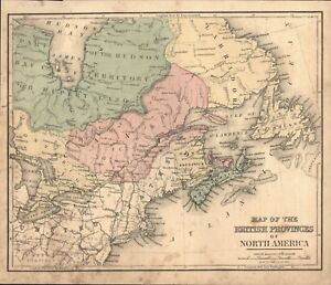 Map Of England Provinces.Details About Antique 1868 Map Map Of The British Provinces Of North America