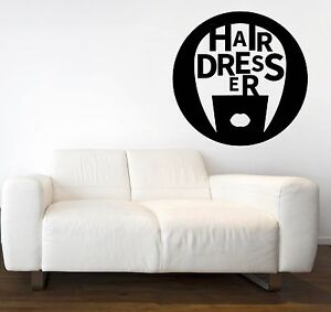 Vinyl Decal Wall Sticker Beauty Salon Stylist Hairdresser Barbershop ig1485
