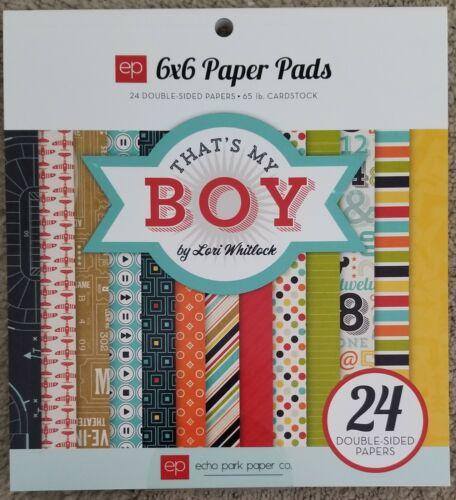 Echo Park 6x6 paper pad 24 pcs That/'s My Boy