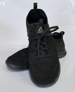 Womens-Reebok-Black-Fabric-Athletic-Shoes-Memory-Tech-Massage-Size-9