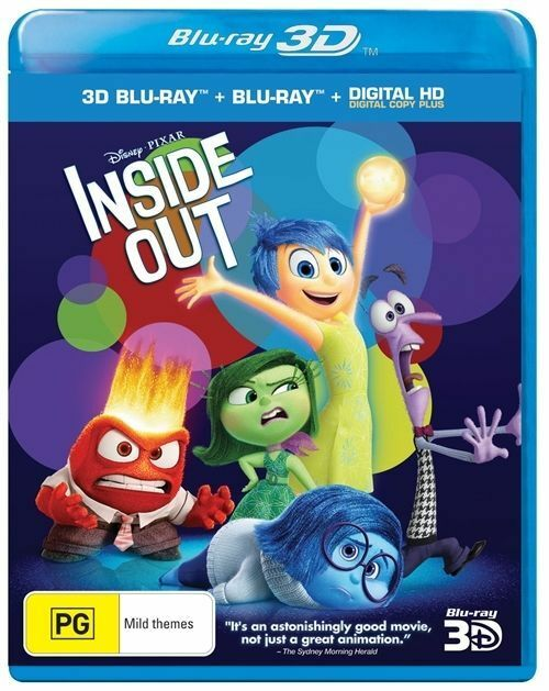 Inside Out Blu Ray (3D+Blu Ray+ Digital HD)