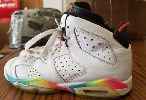 finest selection f7607 c3289 Image is loading Nike-Air-Jordan-Retro-6-White-Pink-Flash-