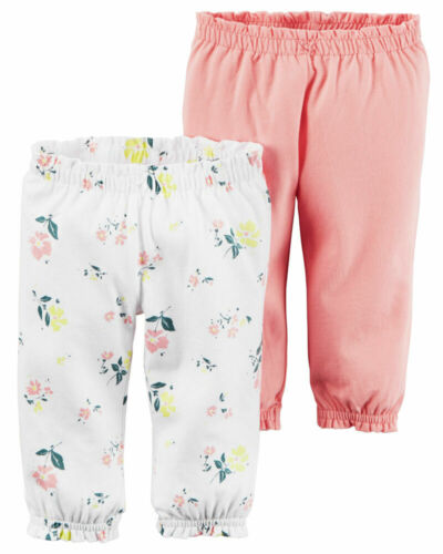 NWT CARTER/'S 2 PACK BABY GIRL SOFT PANTS LEGGINGS  SIZE 3,6,9,12 MO baby clothe